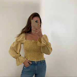 Urban Outfitters yellow gingham top